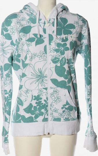 ROXY Kapuzensweatshirt in XL in türkis / weiß, Produktansicht