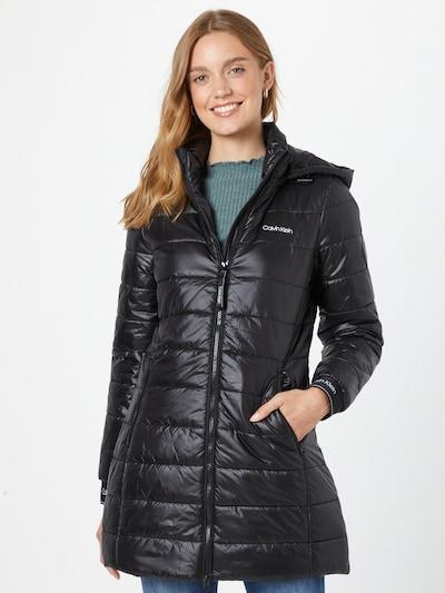 Palton de primăvară-toamnă Calvin Klein pe negru / alb, Vizualizare model
