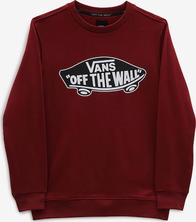 VANS Sportisks džemperis 'BY OTW CREW', krāsa - tumši sarkans / melns / balts, Preces skats
