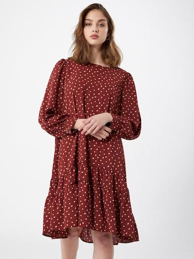 ONLY Kleid in dunkelrot / weiß, Modelansicht
