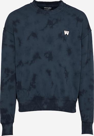 WRANGLER Sweatshirt in navy / nachtblau / weiß, Produktansicht