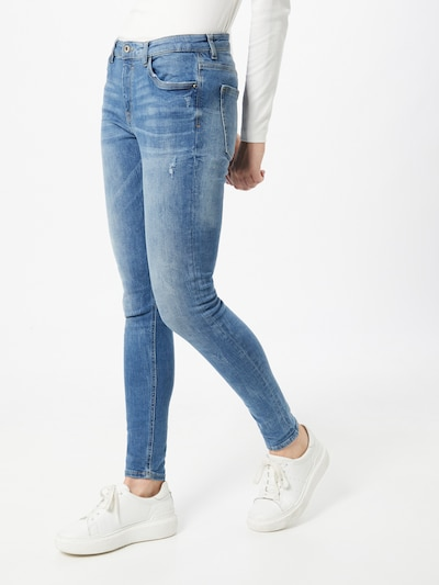 EDC BY ESPRIT Jeans in blue denim, Modelansicht