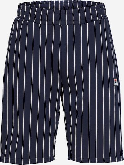 FILA Панталон 'HOMARE' в нощно синьо / бяло: Изглед отпред