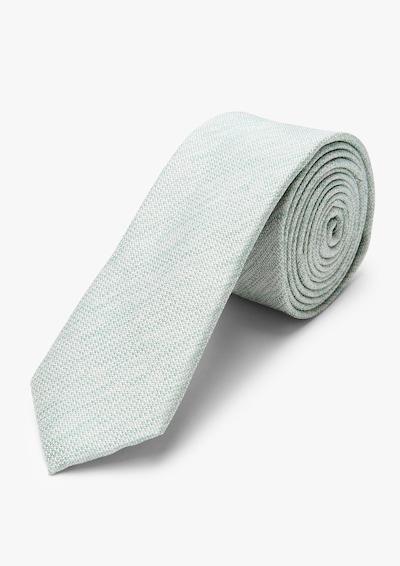 s.Oliver BLACK LABEL Krawatte in grün / weiß, Produktansicht