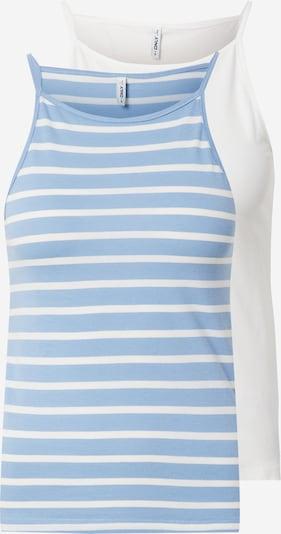 ONLY Haut 'MAY' en bleu clair / blanc, Vue avec produit