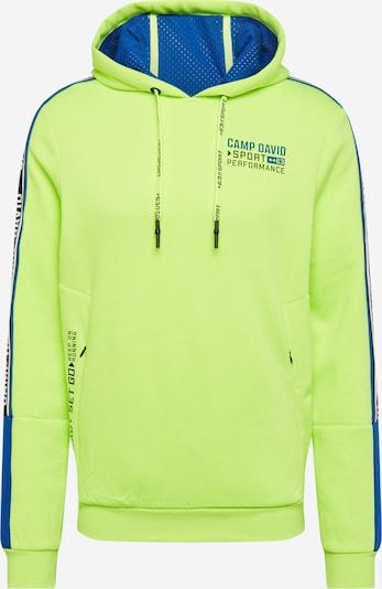 CAMP DAVID Sweatshirt in himmelblau / neongelb, Produktansicht