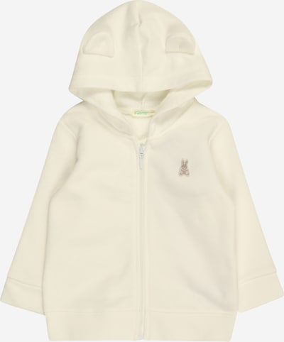 UNITED COLORS OF BENETTON Sweatjacke in creme, Produktansicht