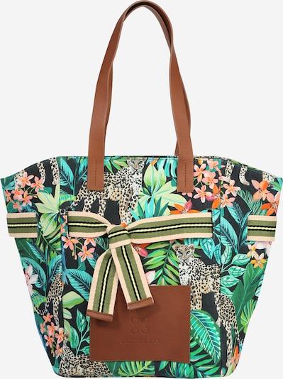 türkiz / zöld / pasztellzöld / sötétzöld / fekete CODELLO Shopper táska, Termék nézet