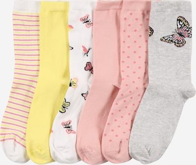Calzino 'BETRIA' NAME IT di colore giallo / grigio sfumato / rosa / bianco, Visualizzazione prodotti