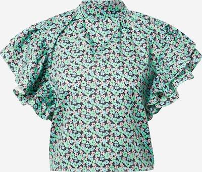 Damson Madder Блуза в кобалтово синьо / светлосиньо / нефритено зелено / бледорозово, Преглед на продукта