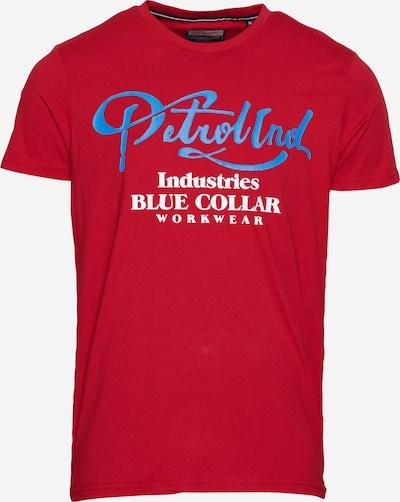 Petrol Industries T-Shirt in royalblau / rotmeliert / weiß, Produktansicht