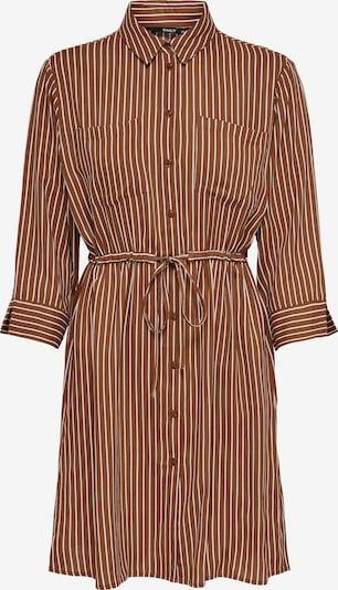 ONLY Košilové šaty - hnědá / bílá, Produkt