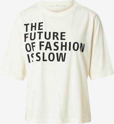 LANIUS Camiseta en marfil / negro, Vista del producto