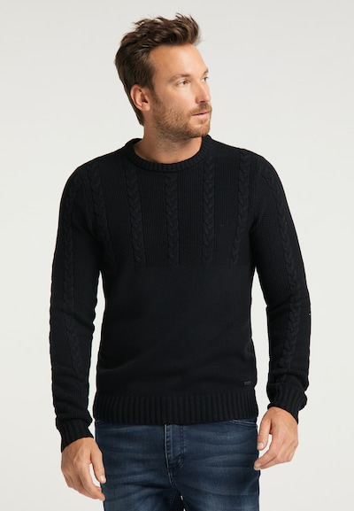 MUSTANG Pullover in schwarz: Frontalansicht