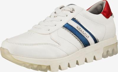 Dockers Sneaker in blau / rot / weiß: Frontalansicht