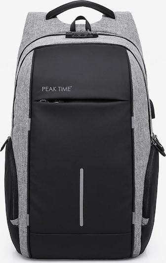Peak Time Rucksack 'PT-304' in grau / schwarz, Produktansicht
