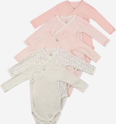 PETIT BATEAU Body 'NAISS' in rosa / naturweiß, Produktansicht