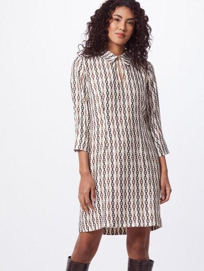 DRYKORN Kleid 'DOMRIKE' in creme / braun / kastanienbraun, Modelansicht