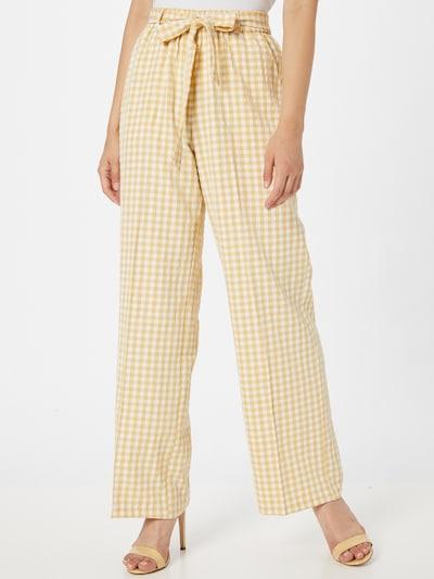Pantaloni 'ERA' SISTERS POINT pe galben / alb, Vizualizare model