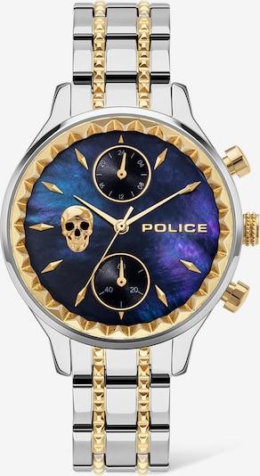 POLICE Uhr in blau / gold / silber, Produktansicht