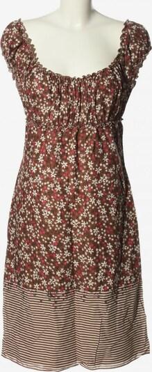 Max Studio schulterfreies Kleid in S in braun / rot / weiß, Produktansicht