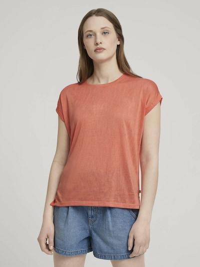 TOM TAILOR DENIM Shirt in de kleur Donkeroranje: Vooraanzicht