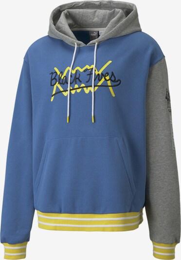 PUMA Sportsweatshirt in himmelblau / gelb / grau / weiß, Produktansicht