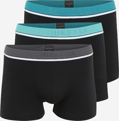 SCHIESSER Boxershorts in türkis / grün / jade / dunkelgrün / schwarz, Produktansicht