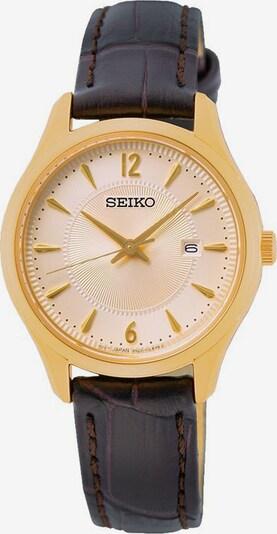SEIKO Quarzuhr in braun / gold, Produktansicht