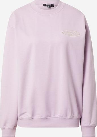 Missguided Sweatshirt in Lila