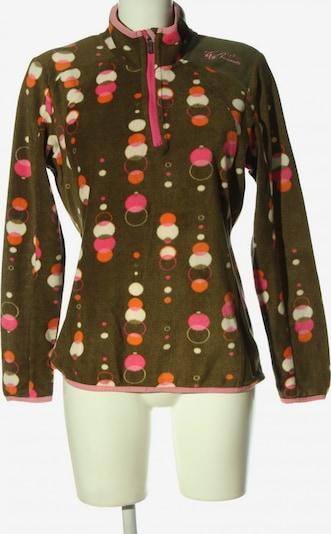 BRUNOTTI Fleecepullover in M in khaki / hellorange / pink, Produktansicht