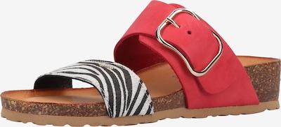 IGI&CO Pantoletten in rot / schwarz / weiß, Produktansicht