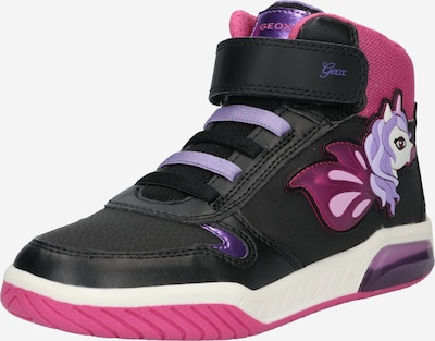Sportbačiai 'Inek' iš GEOX Kids, spalva – alyvinė spalva / rožinė / juoda / balta, Prekių apžvalga