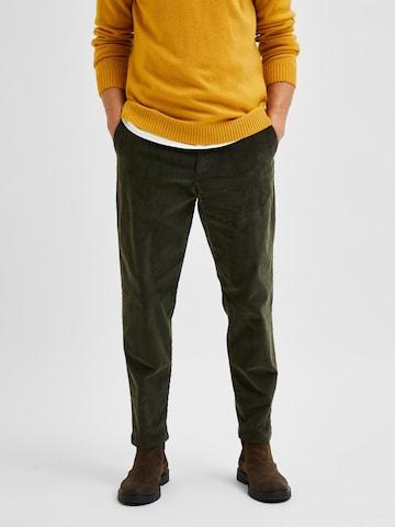 Pantalon chino 'Repton' SELECTED HOMME en vert
