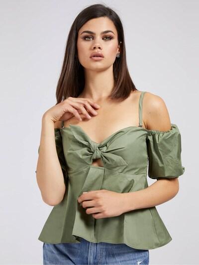 GUESS Bluse in grün, Modelansicht