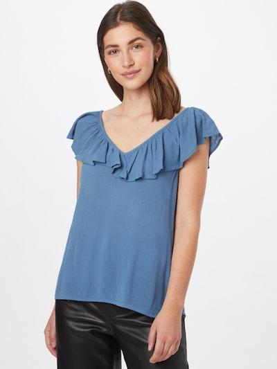 ICHI Bluse in himmelblau, Modelansicht