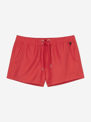 Marc O'Polo Beach Shorts ' Solids ' in Rot