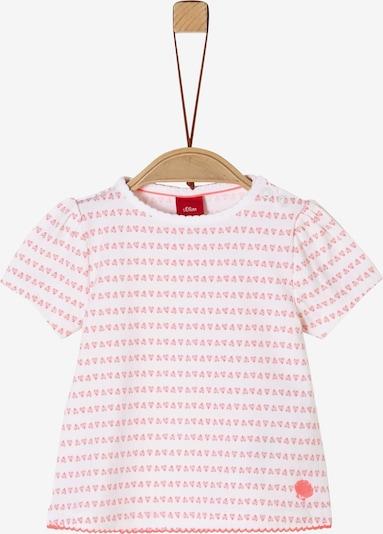 s.Oliver Shirt in pastellpink / pastellrot / weiß, Produktansicht