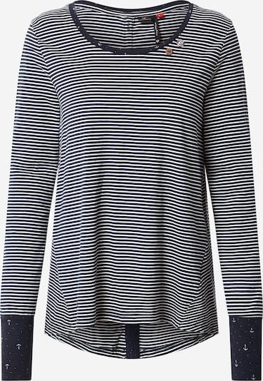 Ragwear T-shirt 'MALINA' en bleu marine / blanc, Vue avec produit