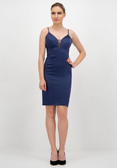 Prestije Satin Minikleid in blau, Modelansicht