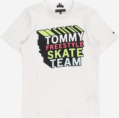 TOMMY HILFIGER Тениска в светлосиньо / неоново жълто / неоново розово / бяло, Преглед на продукта