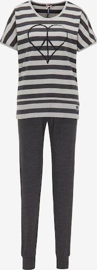 BRUNO BANANI Schlafanzug in schwarz / weiß, Produktansicht