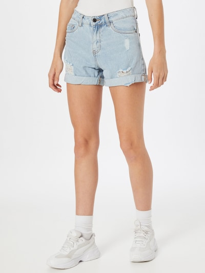 Hailys Shorts 'Luna' in blue denim, Modelansicht