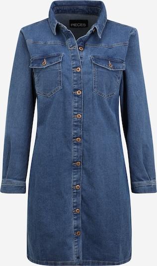 Pieces Petite Kleid 'PERRY' in blue denim, Produktansicht