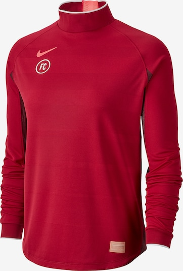 NIKE Sportsweatshirt in rot / weinrot, Produktansicht