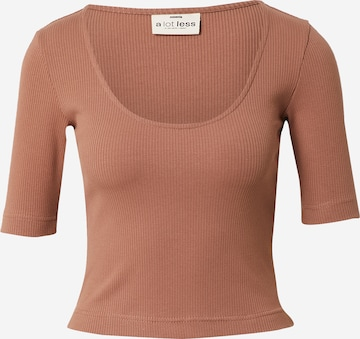 A LOT LESS Shirt 'Mirja' in Brown