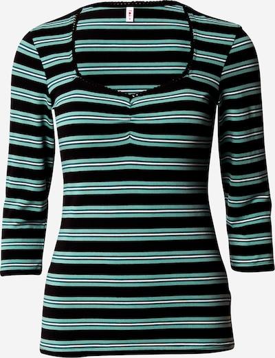 Blutsgeschwister Shirt in grün / schwarz, Produktansicht