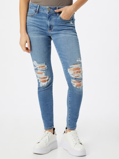 American Eagle Jeggings in blue denim, Modelansicht