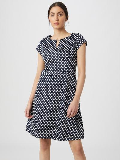 TAIFUN Kleid in navy / weiß, Modelansicht
