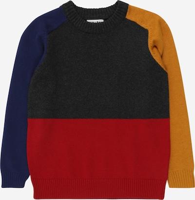 Molo Pullover 'Buzz' in navy / senf / rot / schwarzmeliert, Produktansicht